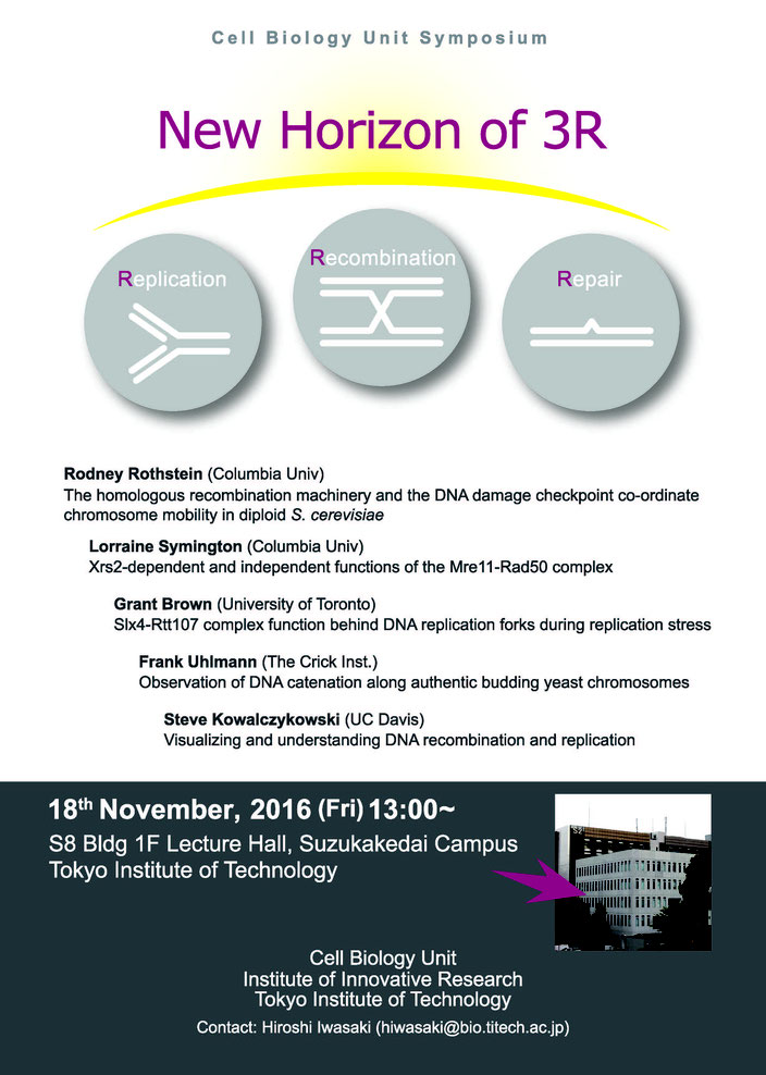 International Mini Symposium [New Horizon of 3R (DNA replication, recombination, and repair]